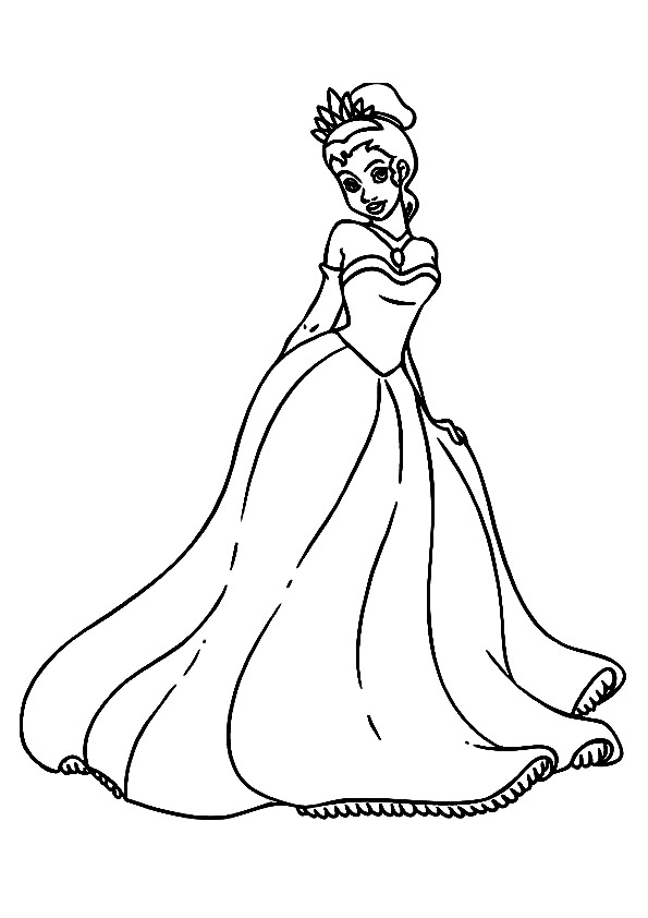The-Princess-Tiana-Wearing-Gown