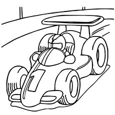 formula one race car - Car Coloring Page