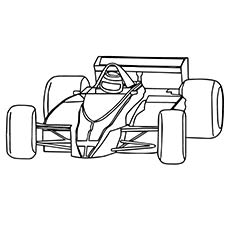 F1 Race Car Coloring
