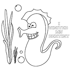 The-Sea-Horse-Visits-Dentist-16 coloring pages