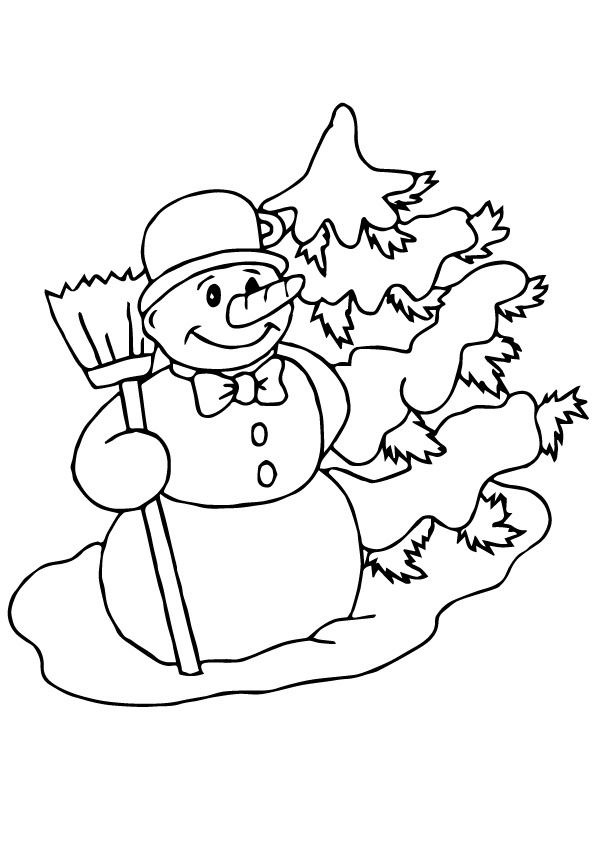 The-Snowman-Coloring-Pages