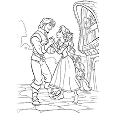 Rapunzel Together Again with Flynn Coloring Pages