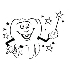 Dental Tooth Fairy Coloring Pages to Print
