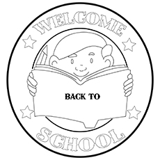 the welcome to school icon 16 for coloring pages - Welcome Back To School Coloring Pages