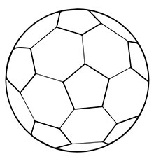 Free Printable Coloring Sheet of Soccer Ball