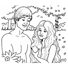 Adam And Eve Coloring Pages Magnificent Top 25 Freeprintable Adam And Eve Coloring Pages Online Design Decoration