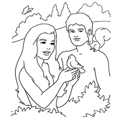 Adam And Eve Coloring Pages Entrancing Top 25 Freeprintable Adam And Eve Coloring Pages Online Design Inspiration