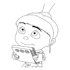 DespicableMe Coloring Pages The Agnes