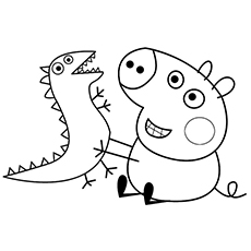 baby alexander free printable peppa pig character chloe coloring pages - Peppa Pig Coloring Pages Kids