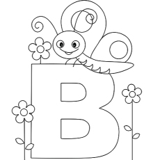 Alphabet Coloring Page for Preschool
