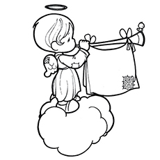 graphic relating to Angel Printable called Final 10 Free of charge Printable Cheerful Angel Coloring Internet pages On-line