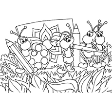 ant bug coloring pages - Insect Coloring Pages