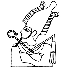 the atef crown - Crown Coloring Pages