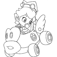 25 best princess peach coloring pages for your little girl