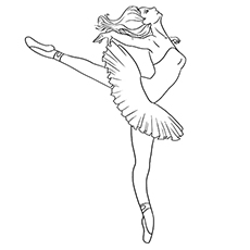 graphic about Printable Ballerina Coloring Pages identify Supreme 10 Free of charge Printable Appealing Ballet Coloring Web pages On the net