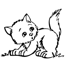 the banjo - Kitten Coloring Page