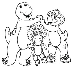 the barney bj and baby bop - Barney Dinosaur Coloring Pages