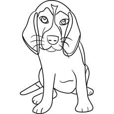 the beagle - Dog Coloring Pages Printable