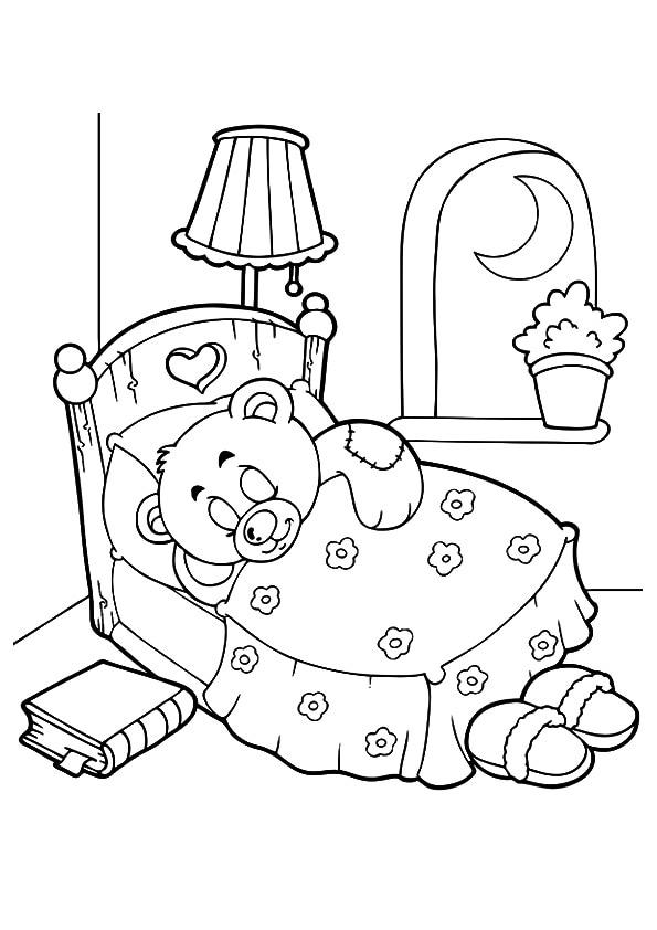 The-bear-sleeping