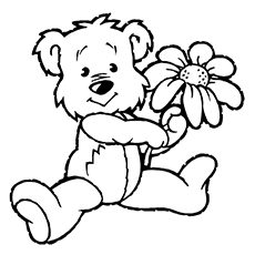 The-bear-with-flower