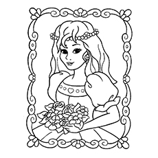 beautiful princess pic cinderella princess coloring sheet