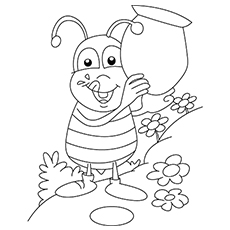 Bee Bug to Color Printable