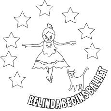 The-belinda-begins-ballet coloring pages