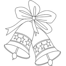 jingle bells and star coloring pages - Bell Coloring Pages