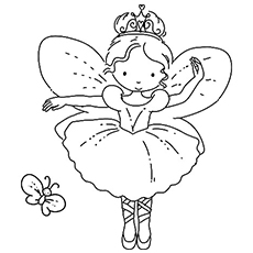 angle ballerina performing in ballet coloring pages