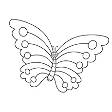 Butterfly Insect Printable to Color