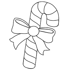 picture of christmas candy cane coloring pages - Mistletoe Coloring Pages