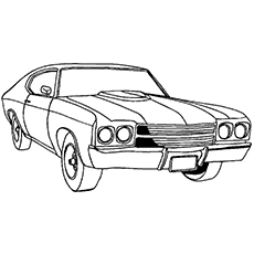 Free Race Car Coloring Pages #6