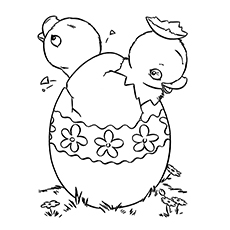 Chick In The Easter Egg Pic To Color