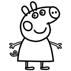 free printable peppa pig character chloe coloring pages