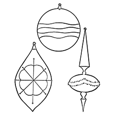 Christmas Ornaments to Decorate Coloring Pages