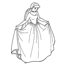 cinderella princess coloring sheet - Princess Color Pages