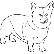 the corgi - Dog Coloring Pages Printable