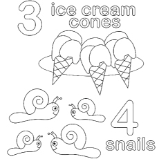 coloring page of count for preschooler - Preschool Coloring Page