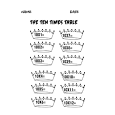Ten Table Image to Color