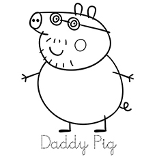 daddy pig coloring page from peppa