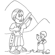Free David And Goliath Coloring Sheets Coloring Page