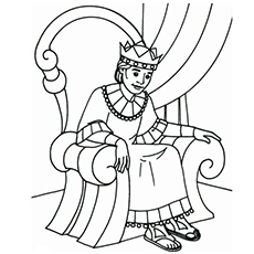 David The New King Print Throwing Stones Coloring Pages