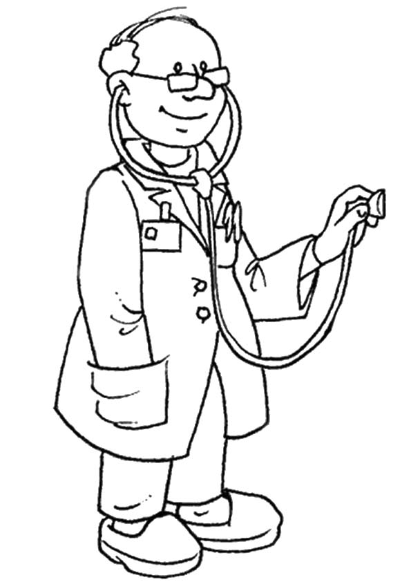 The-doctor-with-stethoscope