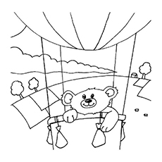 Dora and Boots on a Hot Air Balloon Coloring Pages