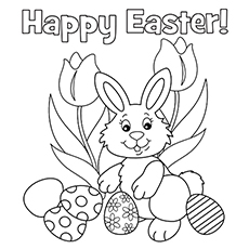easter holiday coloring page - Free Holiday Coloring Pages