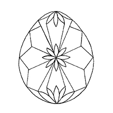 Easter Egg in Diamond Shape Coloring Page