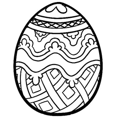 Coloring pages of Egg Shaped Geometric