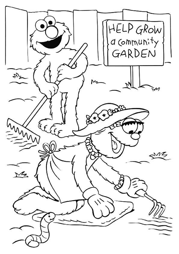 The-elmo-and-mae-gardening