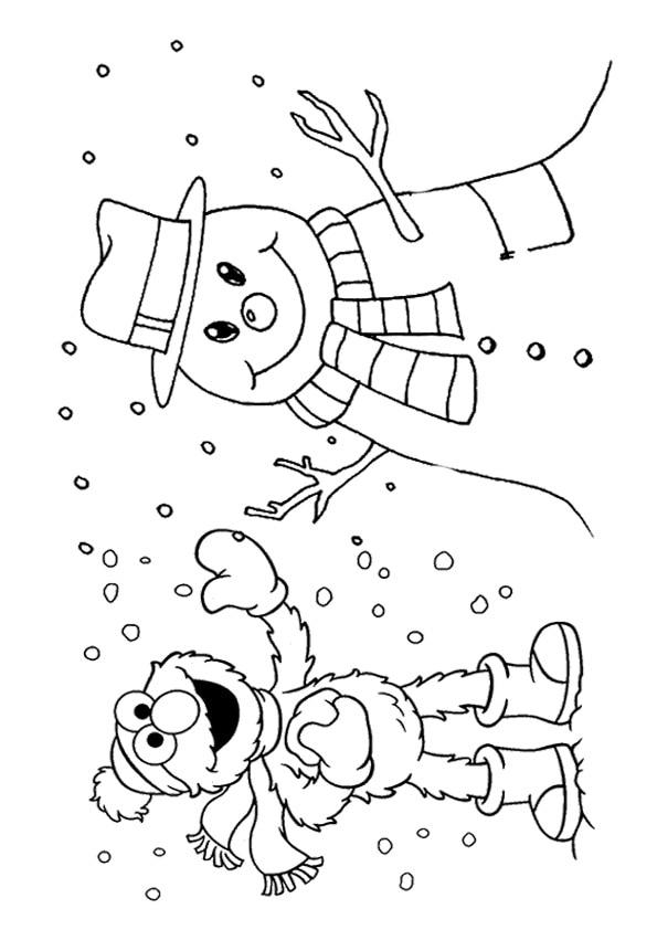 The-elmo-with-snowman