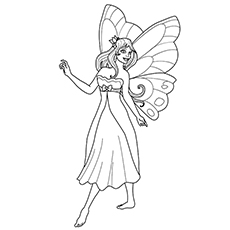 fairy princess picture to color - Fairy Princess Coloring Pages